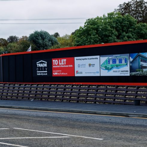 Site Gates and Construction Site Hoarding Watford, London Copyright 2020 Just Hoarding