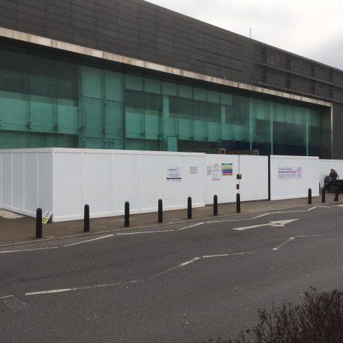 Site Gates and Construction Site Hoarding Weybridge Surrey Copyright 2020 Just Hoarding